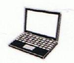 Computer - Enamel  Charm